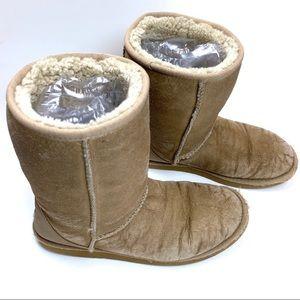 UGG Australia boot W9 leather sheepskin short 5842